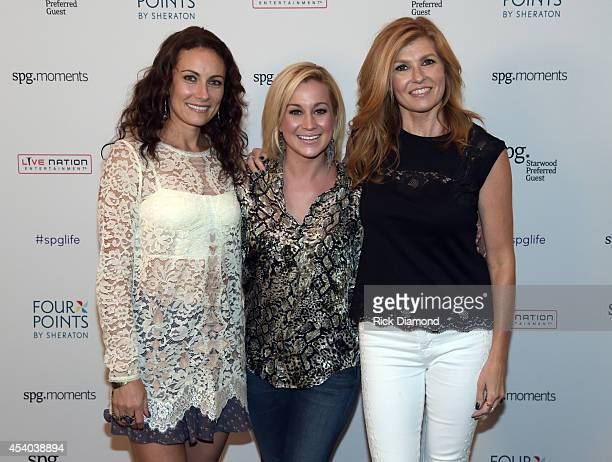 Laura Benanti Kellie Pickler and Connie Britton attend Starwood Preferred Guest's Hear The Music See The World featuring Kellie Pickler at Four...
