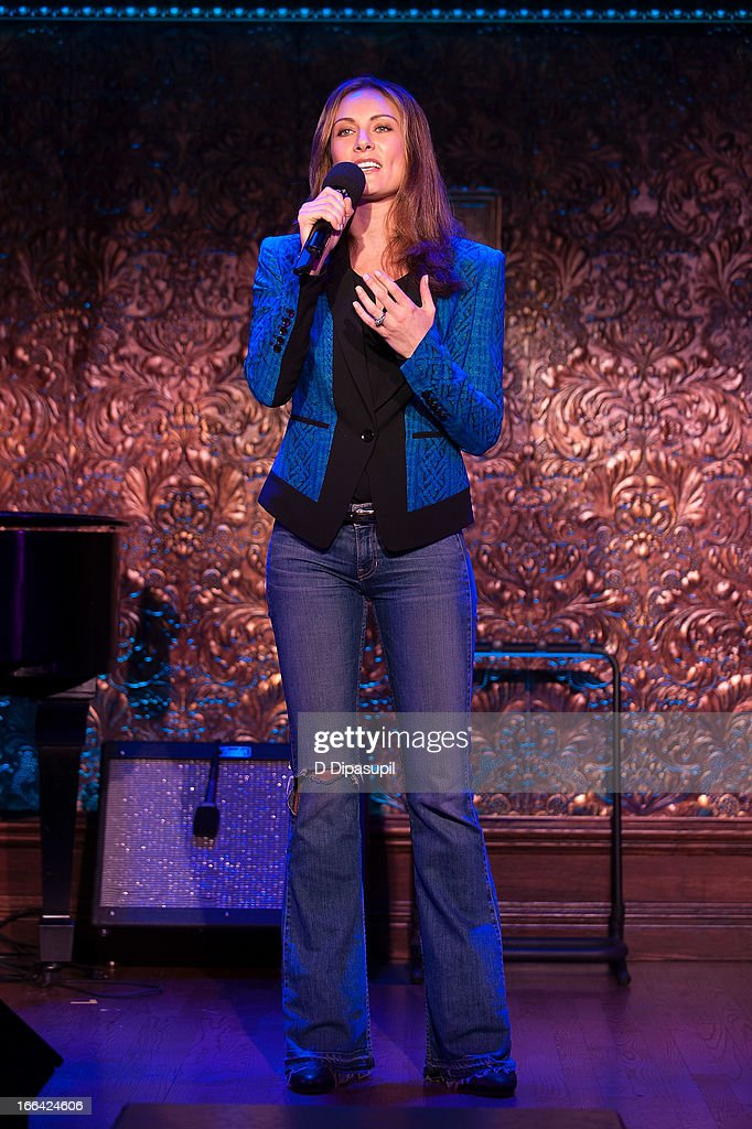 Laura Benanti performs during the Press Preview at 54 Below on April 12, 2013 in New York City.
