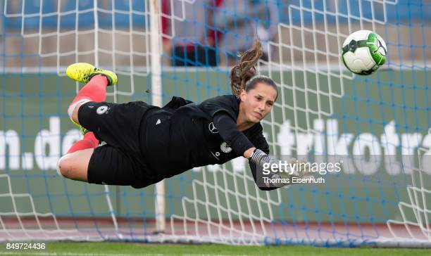 Laura Benkarth of Germany in action during the 2019 FIFA Women's World Championship Qualifier match between Czech Republic Women's and Germany...