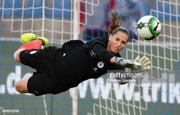 Laura Benkarth of Germany in action prior the 2019 FIFA Women's World Championship Qualifier match between Czech Republic Women's and Germany Women's...