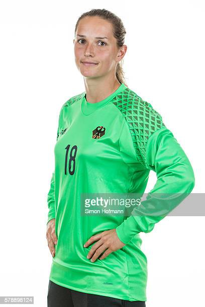 Laura Benkarth poses during Germany Women's Team Presentation on July 19 2016 in Paderborn Germany