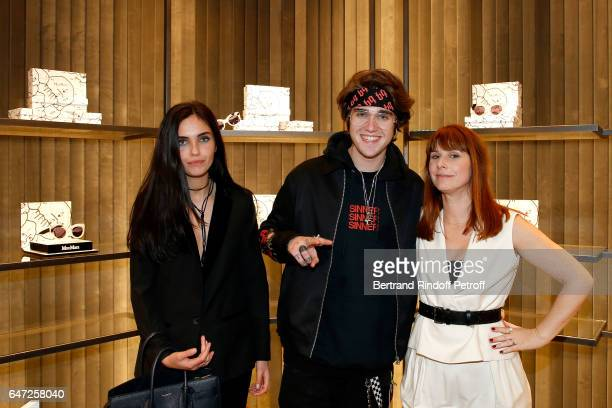 Laura Bensadoun GabrielKane DayLewis and DJ of the event Cecile Togni attend the Max Mara 'Prism in Motion' Eventas with the presentation of the new...