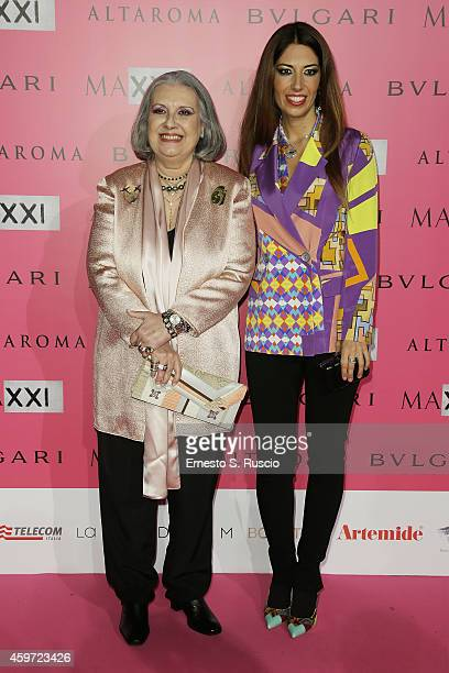 Laura Biagiotti and Lavinia Biagiotti attend the MAXXI Gala Dinner photocall at Maxxi Museum on November 29 2014 in Rome Italy