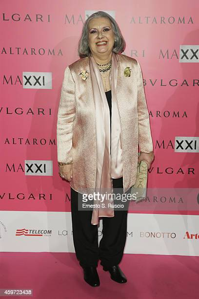 Laura Biagiotti attends the MAXXI Gala Dinner photocall at Maxxi Museum on November 29 2014 in Rome Italy