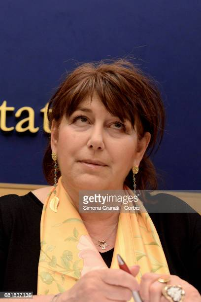 Laura Bianconi of the Alternativa Popolare Party speaks at a press conference to confirm the launch of the 'Bonus Mamma' scheme on May 11 2017 in...