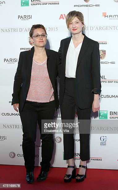 Laura Bispuri and Alba Rohrwacher attend '2015 Nastro D'Argento Award' Nominees Announcement at Maxxi Museum on May 29 2015 in Rome Italy