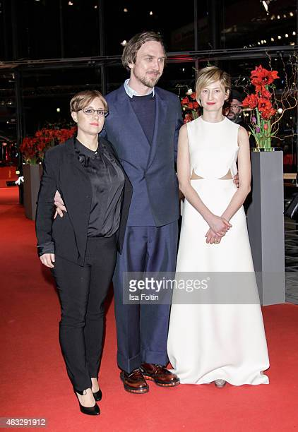 Laura Bispuri Lars Eidinger and Alba Rohrwacher attend the 'Sworn Virgin' Premiere 65th Berlinale International Film Festival on February 12 2015 in...