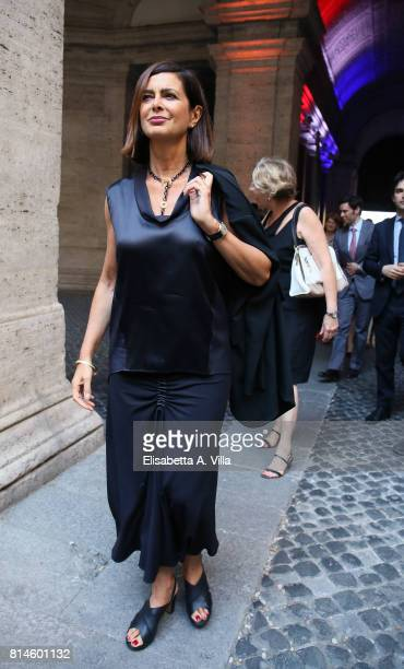 Laura Boldrini attends French National Day celebrations on July 14 2017 in Rome Italy
