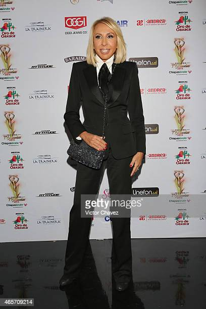 Laura Bozzo arrives at Premios TV y Novelas 2015 at Televisa San Angel on March 9 2015 in Mexico City Mexico