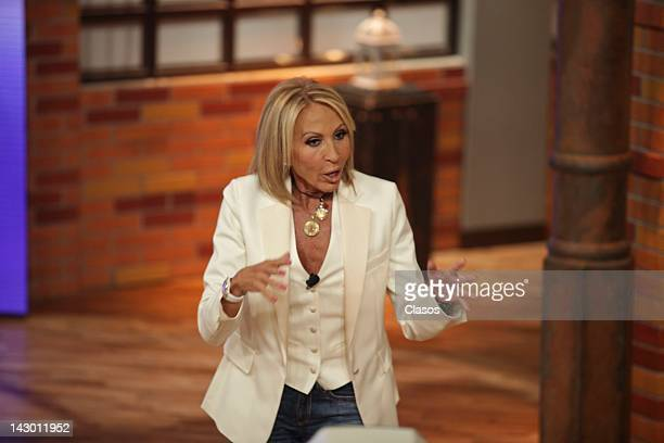 Laura Bozzo durind the presentation of the new season of the talk show Laura atTelevisa San Angel on April 17 2012 in Mexico City Mexico