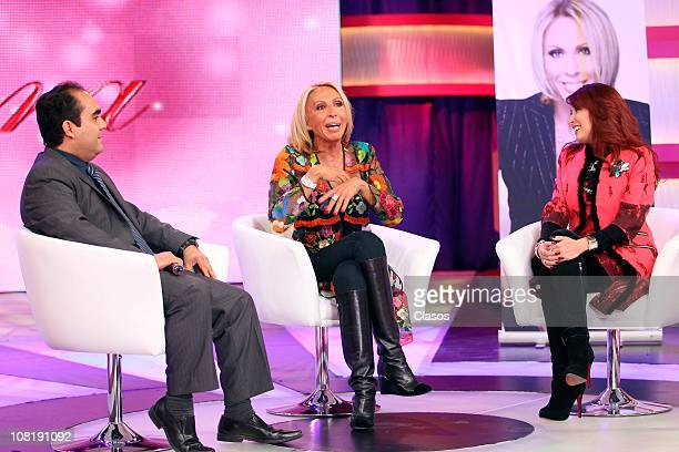Laura Bozzo during the recording of her new TV show on January 19 2011 in Mexico City Mexico
