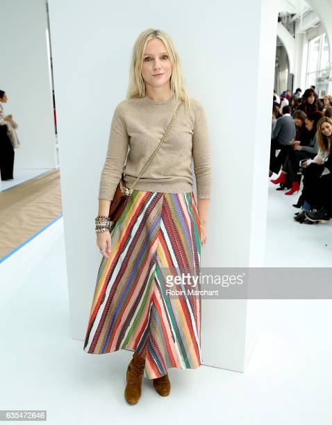 Laura Brown attends Delpozo during New York Fashion Week at Pier 59 Studios on February 15 2017 in New York City