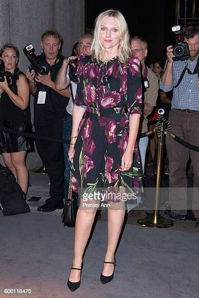Laura Brown attends Tom Ford fashion show during New York Fashion Week at 99 East 52nd Street on September 7 2016 in New York City