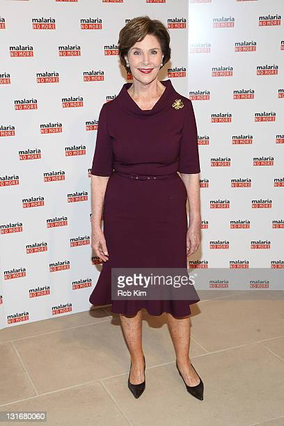 Laura Bush attends the 2011 Malaria No More International Honors 5th Anniversary benefit at the IAC Building on November 6 2011 in New York City