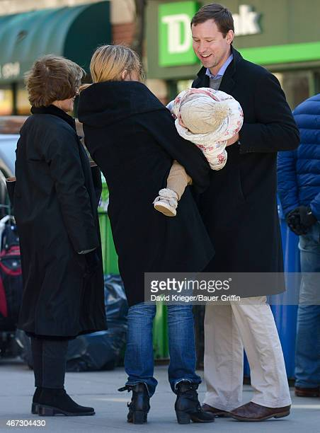 Laura Bush Jenna Bush Hager daughter Mila Hager and Henry Hager are seen in New York City on March 22 2015 in New York City