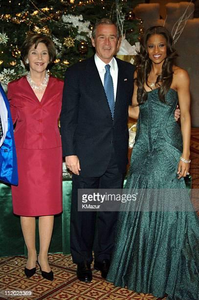 Laura Bush President George W Bush and Ciara KM 10474_012345_0227JPG