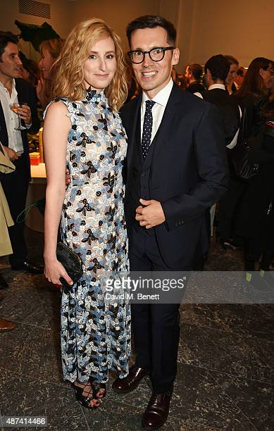Laura Carmichael and designer Erdem Moralioglu attend the launch of the first Erdem flagship store on September 9 2015 in London England