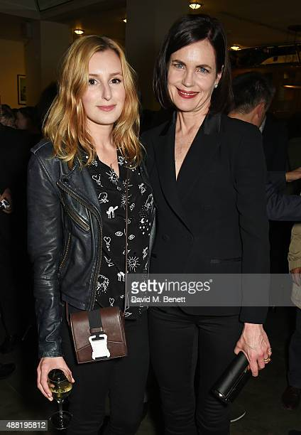 Laura Carmichael and Elizabeth McGovern attend the 'Photograph 51' press night after party at the The National Cafe on September 14 2015 in London...