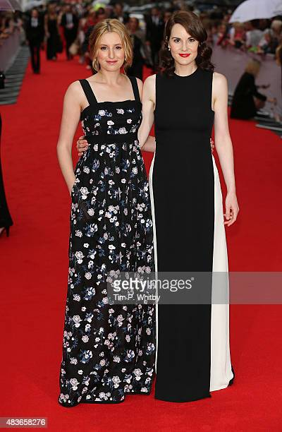 Laura Carmichael and Michelle Dockery attend as BAFTA celebrate 'Downton Abbey' at Richmond Theatre on August 11 2015 in Richmond England