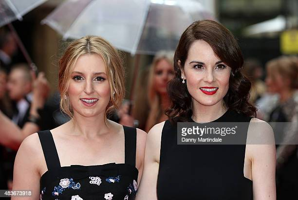 Laura Carmichael and Michelle Dockery attends as BAFTA celebrate 'Downton Abbey' at Richmond Theatre on August 11 2015 in Richmond England