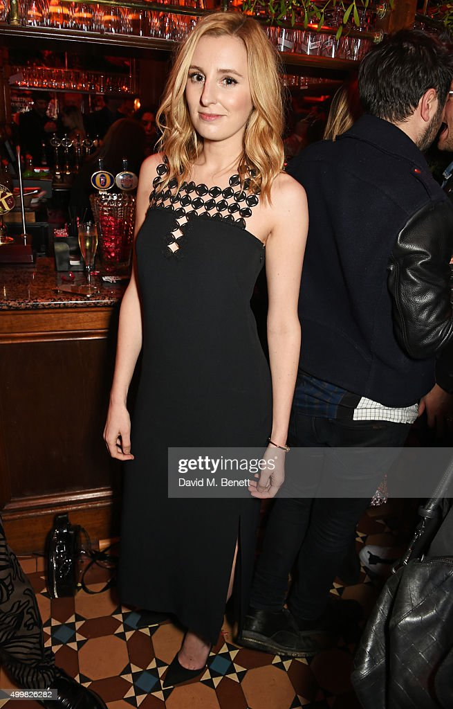 Laura Carmichael attends Charlotte Tilbury's naughty Christmas party celebrating the launch of Charlotte's new flagship beauty boutique in Covent Garden on December 3, 2015 in London, England.