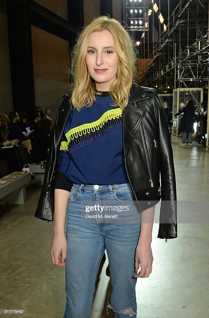 Laura Carmichael attends the Christopher Kane show during London Fashion Week Autumn/Winter 2016/17 at Tate Modern on February 22, 2016 in London, England.