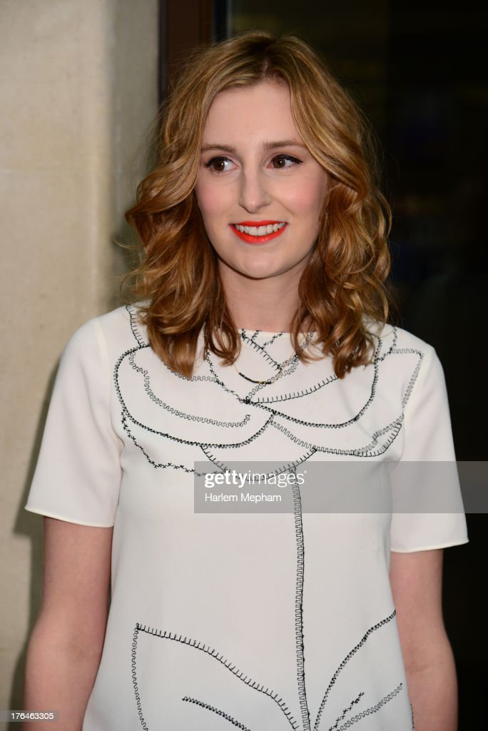 Laura Carmichael sighted outside The Mayfair Hotel on August 13, 2013 in London, England.