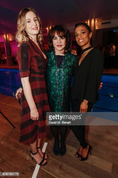 Laura Carmichael Stockard Channing and Freema Agyeman attend the press night after party for 'Apologia' at the Haymarket Hotel on August 3 2017 in...