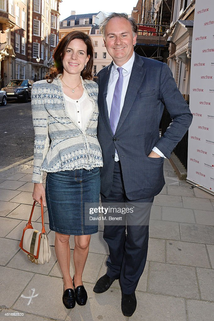 Laura Cathcart (L) and William Cash attend The Spectator Summer Party at Spectator House on July 3, 2014 in London, England.
