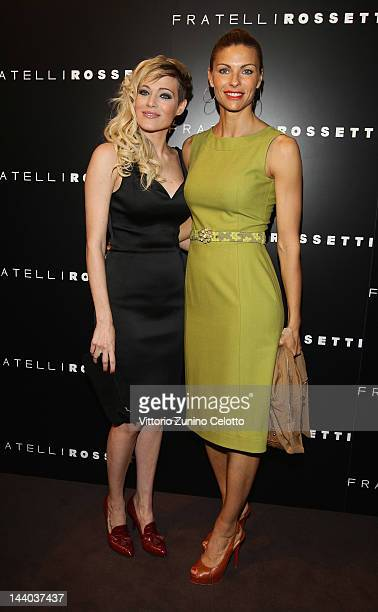Laura Chiatti and Martina Colombari attend the Fratelli Rossetti Cocktail Party on May 8 2012 in Milan Italy