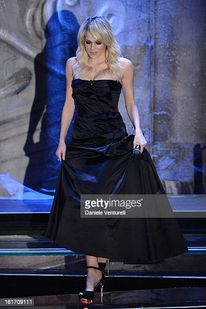 Laura Chiatti attend the third night of the 63rd Sanremo Song Festival at the Ariston Theatre on February 14 2013 in Sanremo Italy