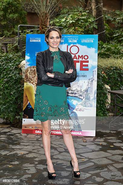 Laura Chiatti attends a photocall for 'Io Che Amo Solo Te' on October 14 2015 in Milan Italy