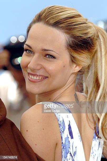 Laura Chiatti during 2006 Cannes Film Festival 'L'Amico di Famiglia' Photocall at Palais des Festival Terrace in Cannes France