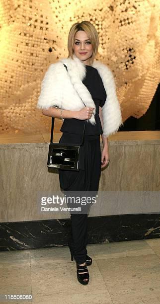 Laura Chiatti during Loris Cecchini Exhibition Fendi Party at Palais de Tokyo in Paris France