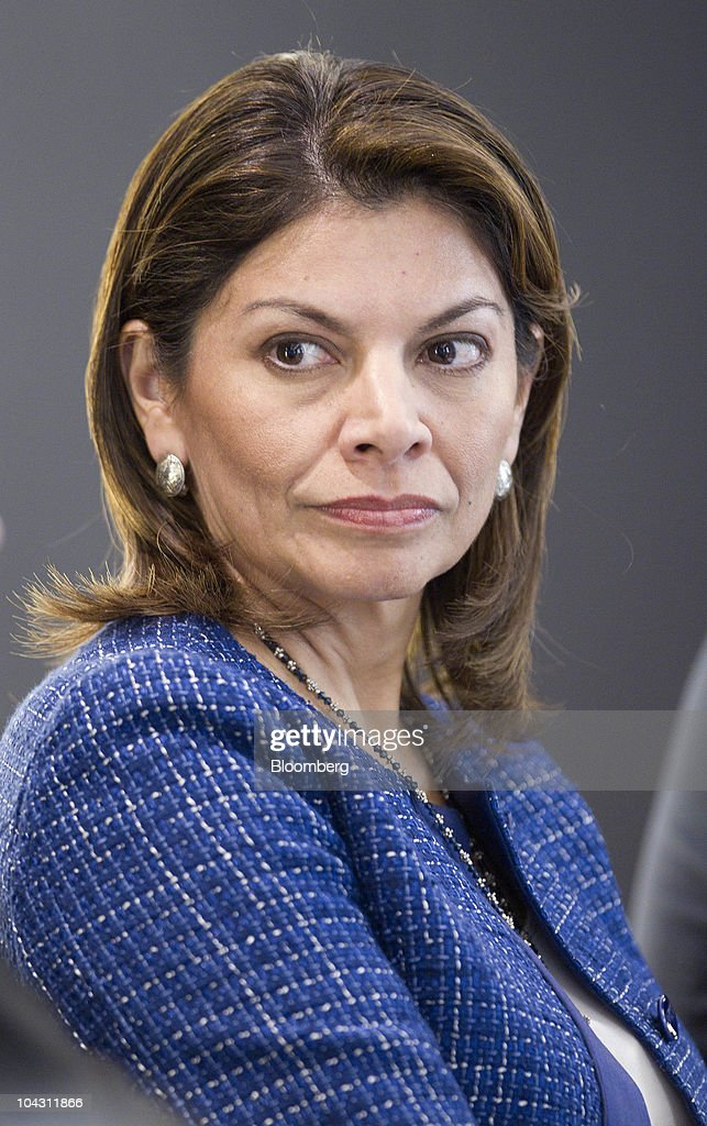 Laura Chinchilla Costa Rica's president listens during an interview in New York US on Monday Sept 20 2010 Chinchilla Costa Rica's first female...