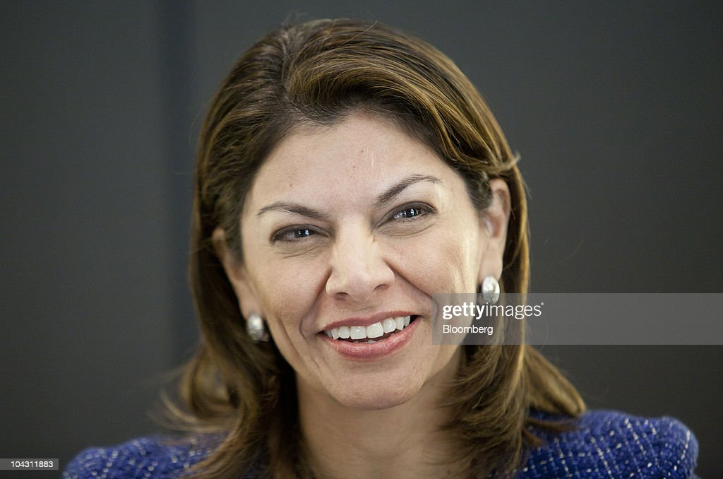 <a gi-track='captionPersonalityLinkClicked' href=/galleries/search?phrase=Laura+Chinchilla&family=editorial&specificpeople=646370 ng-click='$event.stopPropagation()'>Laura Chinchilla</a>, Costa Rica's president, smiles during an interview in New York, U.S., on Monday, Sept. 20, 2010. Chinchilla, Costa Rica's first female president, was sworn in May 8. Photographer: Andrew Harrer/Bloomberg via Getty Images