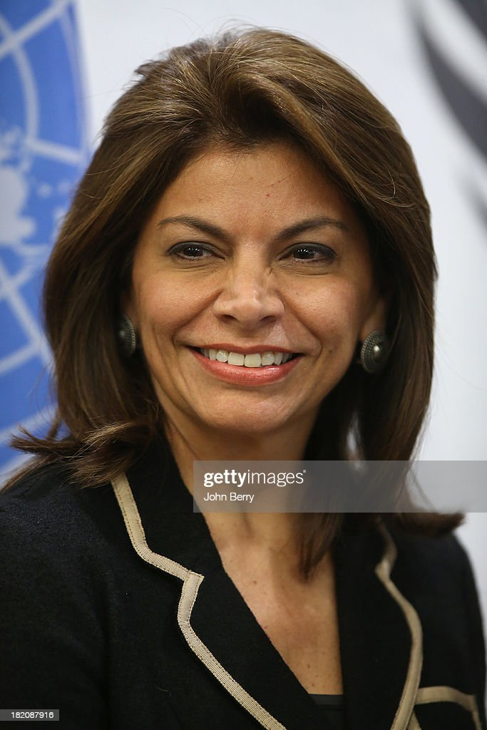 Laura Chinchilla Miranda President of Costa Rica attends the 68th session of the United Nations General Assembly on September 27 2013 in New York City