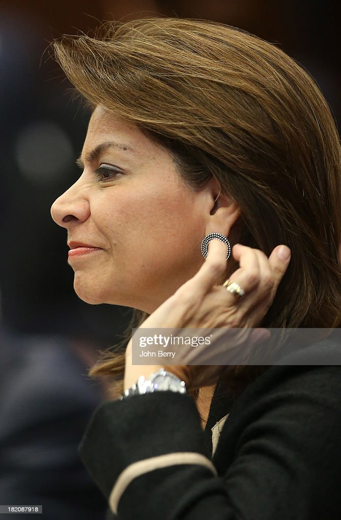 <a gi-track='captionPersonalityLinkClicked' href=/galleries/search?phrase=Laura+Chinchilla&family=editorial&specificpeople=646370 ng-click='$event.stopPropagation()'>Laura Chinchilla</a> Miranda, President of Costa Rica attends the 68th session of the United Nations General Assembly on September 27, 2013 in New York City.
