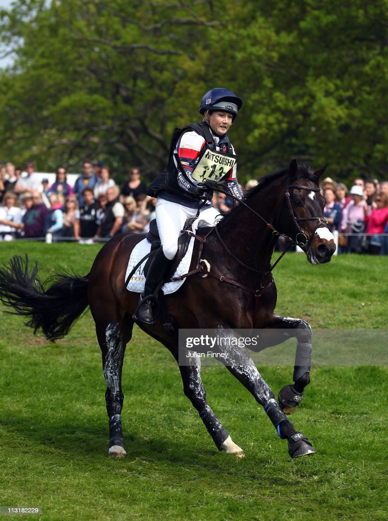 Laura Collett rides Rayef as they compete in the cross country stage during day three of the Badminton Horse Trials on April 24, 2011 in Badminton, Gloucestershire.