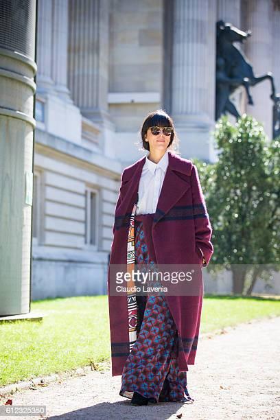 Laura Comolli attends Giambattista Valli show on day 7 of Paris Womens Fashion Week Spring/Summer 2017 on October 3 2016 in Paris France