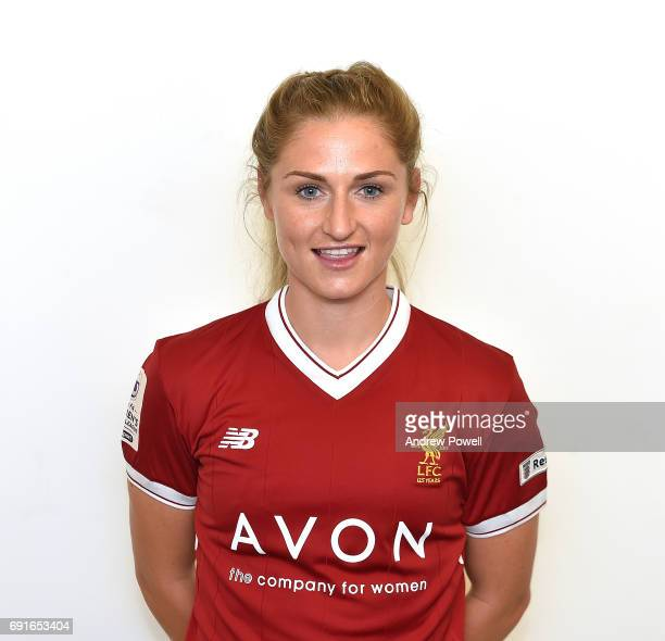 Laura Coombs of Liverpool Ladies during a Photocall at Select Security Stadium on June 2 2017 in Widnes England
