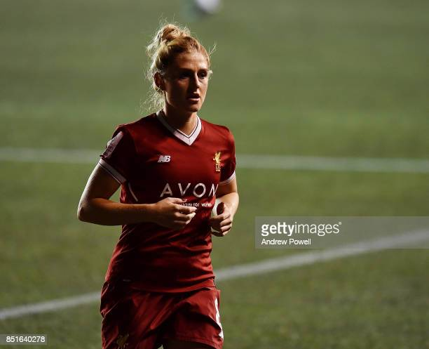 Laura Coombs of Liverpool Ladies during the match between Everton Ladies and Liverpool Ladies at Select Security Stadium on September 22 2017 in...