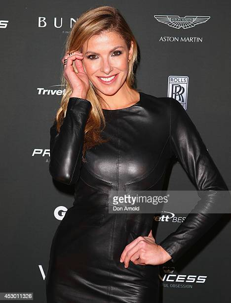 Laura Csortan attends the Princess Yachts launch evening at Rose Bay Marina on August 1 2014 in Sydney Australia