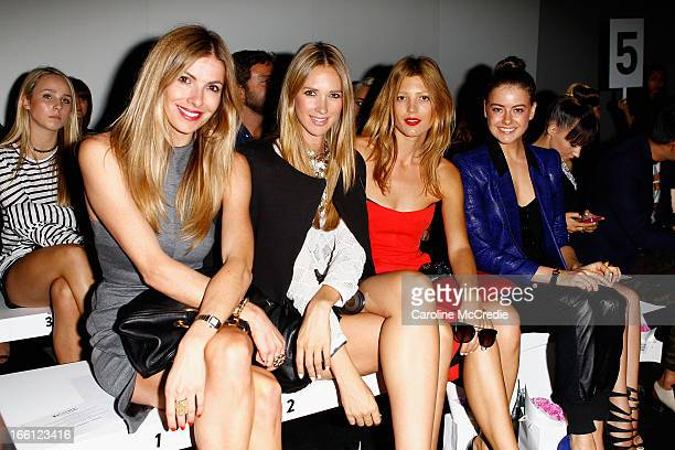 Laura Csortan Nikki Phillips Tanya G and April Rose Pengilly attend the Maticevski show during MercedesBenz Fashion Week Australia Spring/Summer...