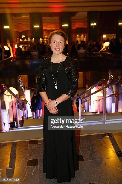 Laura Dahlmeier attends the Sportler des Jahres 2015 gala at Kurhaus BadenBaden on December 20 2015 in BadenBaden Germany
