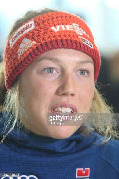 Laura Dahlmeier looks on during the DSV German Ski Association clothing on October 20 2016 in Neuburg Germany