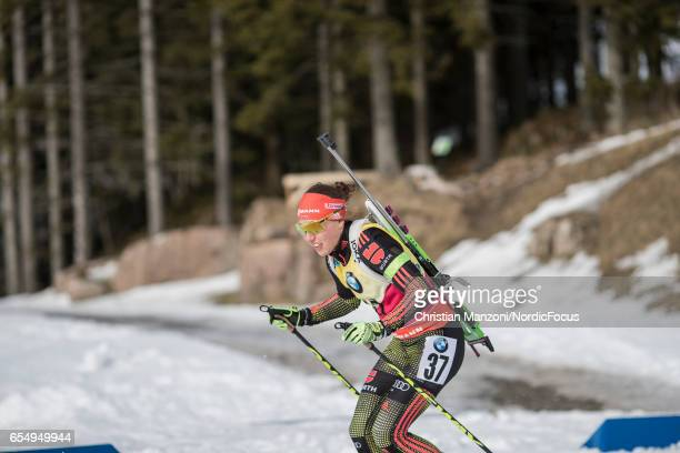 Laura Dahlmeier of Germany competes during the 10 km men's Sprint on March 17 2017 in Oslo Norway