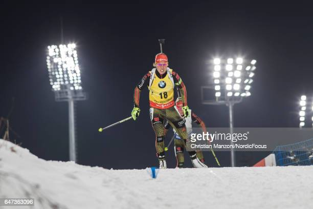 Laura Dahlmeier of Germany competes during the 75 km women's Sprint on March 2 2017 in Pyeongchanggun South Korea