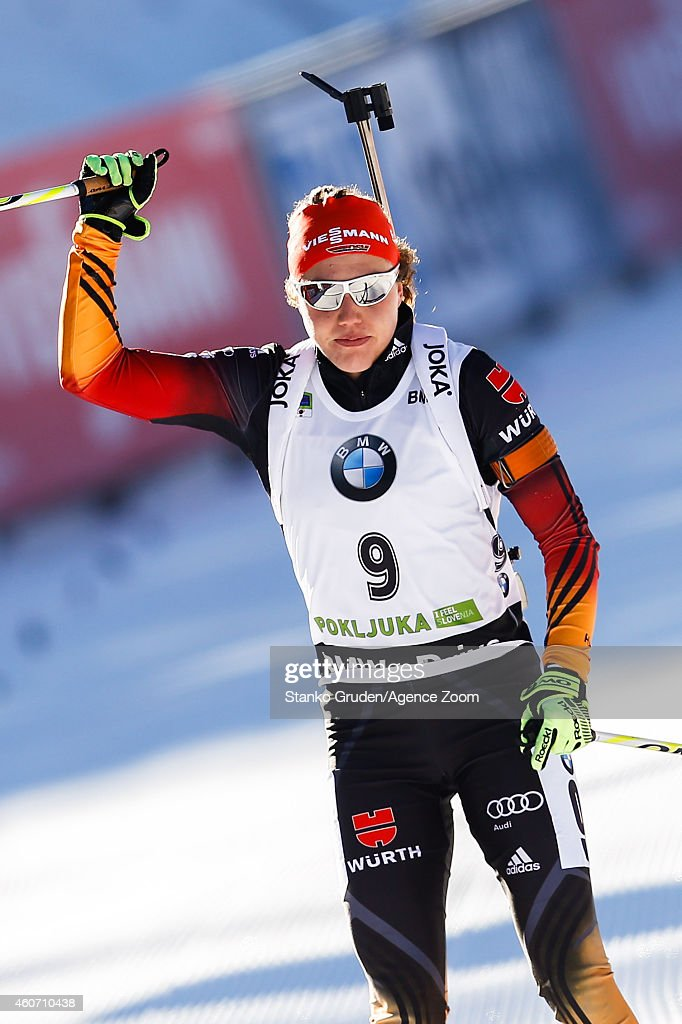 <a gi-track='captionPersonalityLinkClicked' href=/galleries/search?phrase=Laura+Dahlmeier&family=editorial&specificpeople=10284324 ng-click='$event.stopPropagation()'>Laura Dahlmeier</a> of Germany competes during the IBU Biathlon World Cup Men's and Women's Pursuit on December 20, 2014 in Pokljuka, Slovenia.
