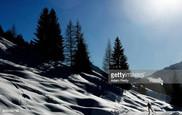 Laura Dahlmeier of Germany on her way to victory in the Women's 15km Individual competition of the IBU World Championships Biathlon 2017 at the...